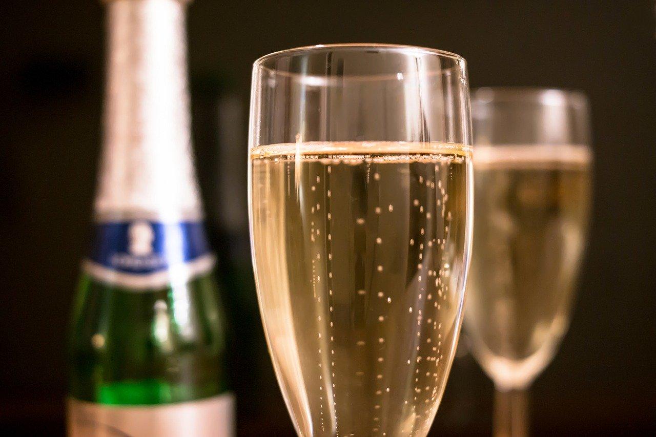 champagne, piccolo, champagne glass